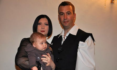 David Haines with his wife, Dragana, and their daughter Athea.