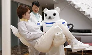 Robear is a nursing robot developed by Riken and Sumitomo Riko Company.