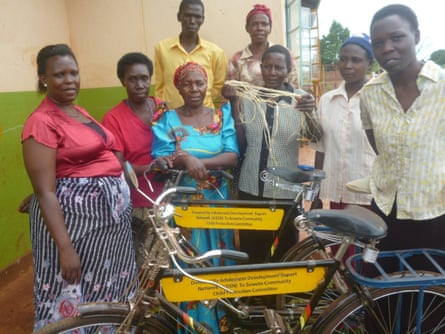 Bicycles for child protection committee Uganda