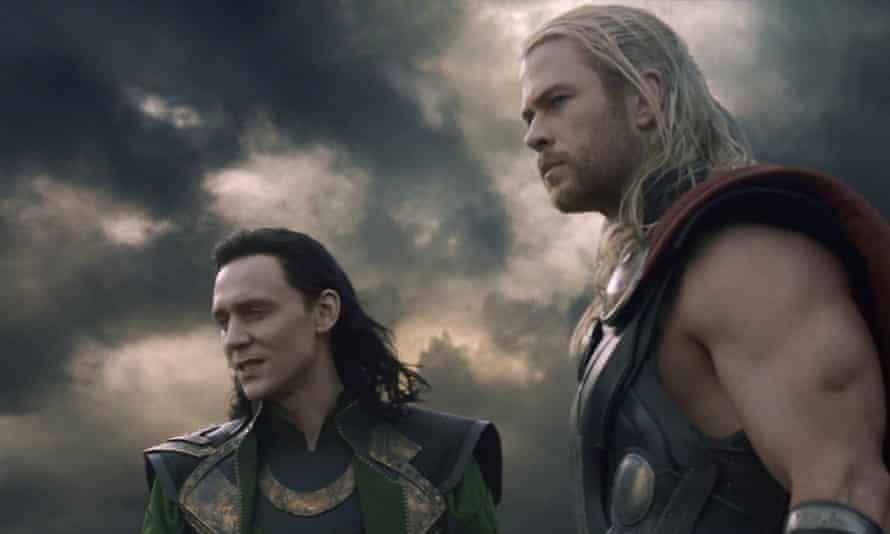Tom Hiddleston, left, as Loki with Chris Hemsworth as Thor in Thor: The Dark World (2013)
