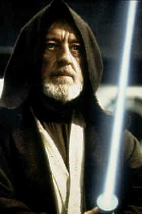 'Fairytale nonsense' … Alec Guinness in the first Star Wars film.