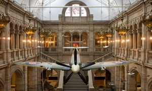 A second world war Spitfire is now on display at the Kelvingrove art gallery.