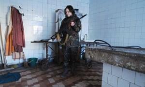 Viktoria, one of the women fighting in eastern Ukraine