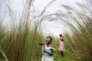 Sisters Anita, five, and Sonia Singh, 12, explore a world of light after having operations to correct cataracts in West Bengal, India. The image, by South African photographer Brent Stirton, has been shortlisted for the 2015 Sony world photographic awards