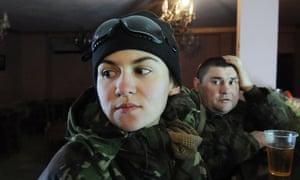 Vitaminka, woman fighting in Ukraine