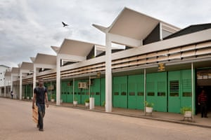 The Kwame Nkrumah University of Science and Technology (KNUST) in Kumasi, Ghana. Designed by British architect James Cubitt in 1956