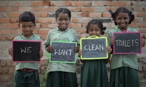 We want clean toilets