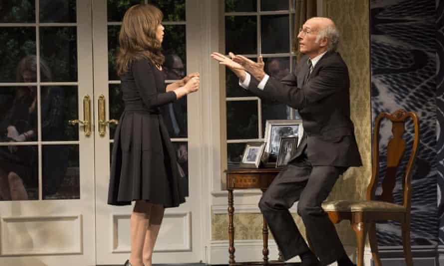 Good grief ... Rosie Perez, left, and Larry David in Fish in the Dark.