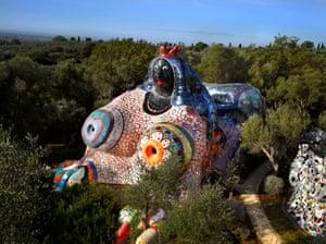 View of the Tarot Garden, Garavicchio, Italy. Niki de Saint Phalle.