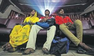 Customers at Maratha Mandir watch Dilwale Dulhania Le Jayenge.