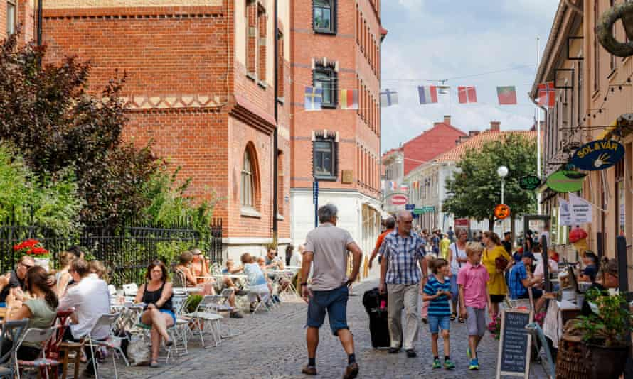 Gothenburg's Haga area is a warren of old buildings, cafes and small shops.
