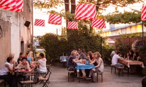 KC Grad, a popular hangout for young travellers and local creatives in Savamala, Belgrade.