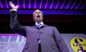 Nigel Farage delivers a speech at the UKIP spring conference.