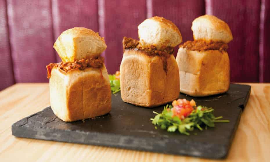 A bunny chow with mutton curry. Photograph: Alamy