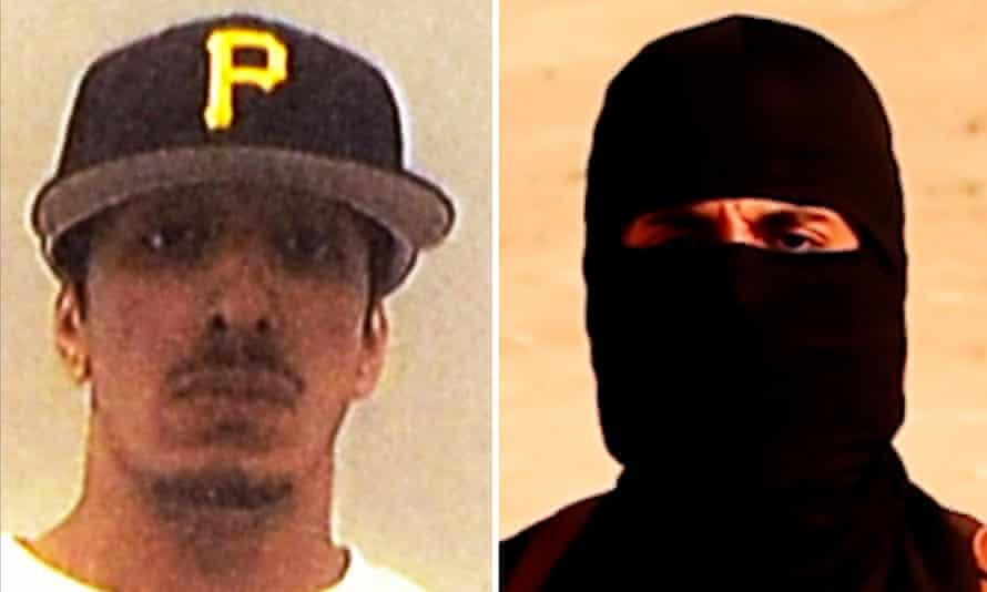 Mohammed Emwazi in a University of Westminster photo, and in an ISIS execution video