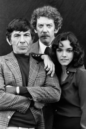 <strong>1978 </strong>Leonard Nimoy, Donald Sutherland and Brooke Adams starring in Invasion of the Body Snatchers pose for publicity pictures
