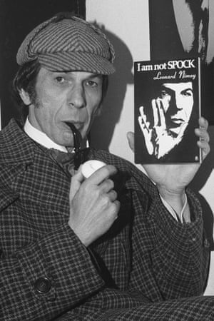 "<strong>1976 </strong>Actor Leonard Nimoy dressed as ""Holmes"" for some promotion work for a play in which he'll tour as ""Holmes."""