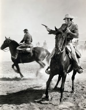 <strong>1971 </strong> Leonard Nimoy in action in the western Catlow