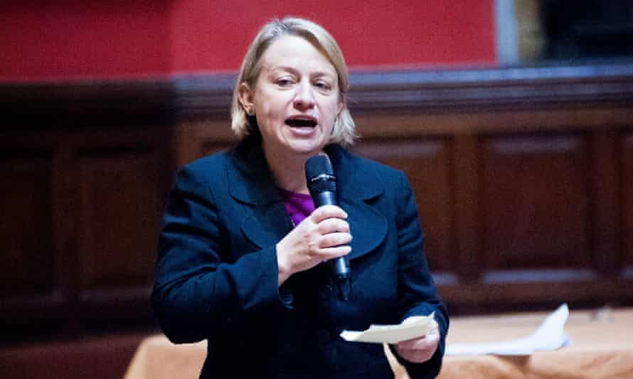 Natalie Bennett speaks at a feminism debate at the Oxford Union this month.