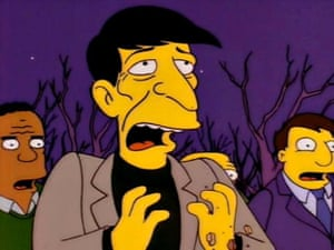 <strong>1993 </strong>Leonard Nimoy in the Simpsons