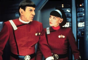 <strong>1991</strong> Nimoy and Kim Cattrall in Star Trek VI: the Undiscovered Country.
