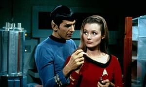 Leonard Nimoy and Diana Muldaur in Star Trek, 1966.