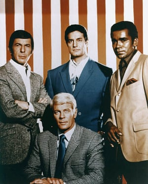 <strong>1968 </strong>Leonard Nimoy, Peter Lupus, Greg Morris &amp; Peter Graves from the television series Mission Impossible