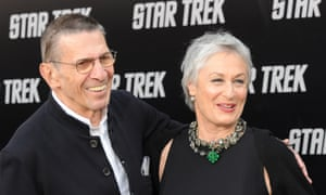 "<strong>2009 </strong>Leonard Nimoy and his wife, actress Susan Bay, arrive at Grauman's Chinese Theatre in Hollywood for the movie ""Star Trek"" in Los Angeles, CA"