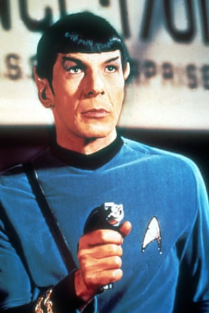 <strong>1966 </strong>Leonard Nimoy in his role as Spock during filming of the original Star Trek TV series