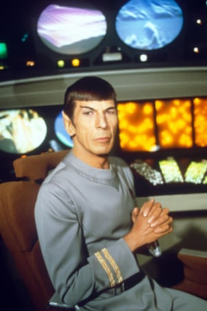 <strong>1979 </strong>Leonard Nimoy on the set of the film Star Trek : The Motion Picture'