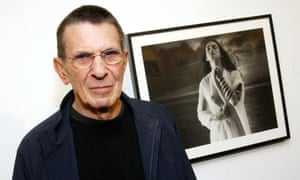 <strong>2003 </strong>Nimoy at an exhibition of his controversial photographic series Shekhina. The photographs incensed some Jewish leaders at the time.
