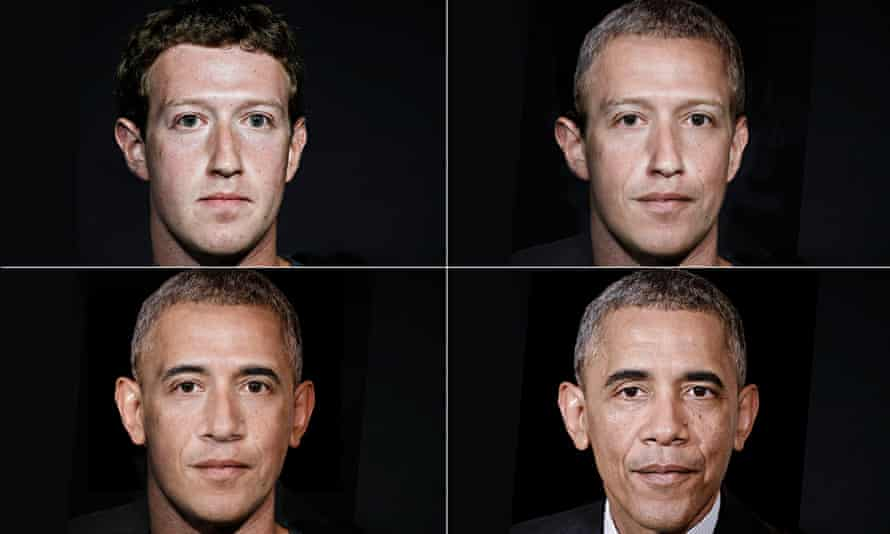 Mark Zuckerberg turns into Barack Obama via Photoshop. tech industry takes over state functions