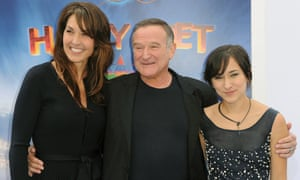 Susan Schneider, Robin Williams and Zelda Williams  in 2011.
