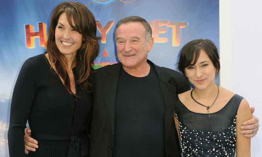 Susan Schneider, Robin Williams and Zelda Williams  in 2011.