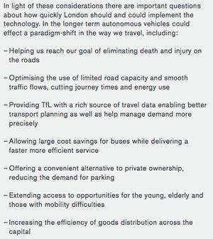 London's 2050 transport plan.