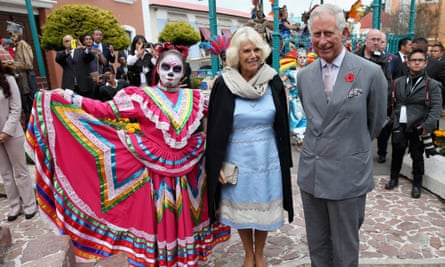 Prince Charles and Camilla at Day of Dead festival
