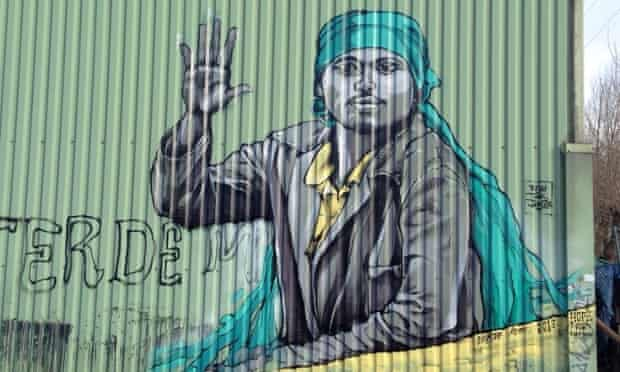 A painting at the Calais refugee camp