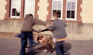 A boy being bullied