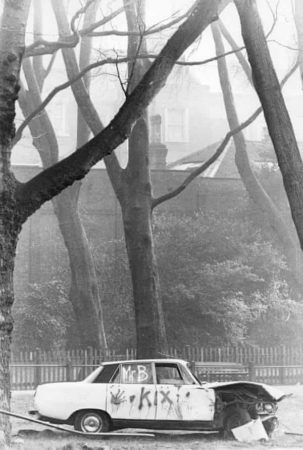 A car near Hampstead Heath tagged by Kix (AKA Lee Thompson) and Mr B (AKA Mike Barson), both of whom went on to be members of the band Madness.