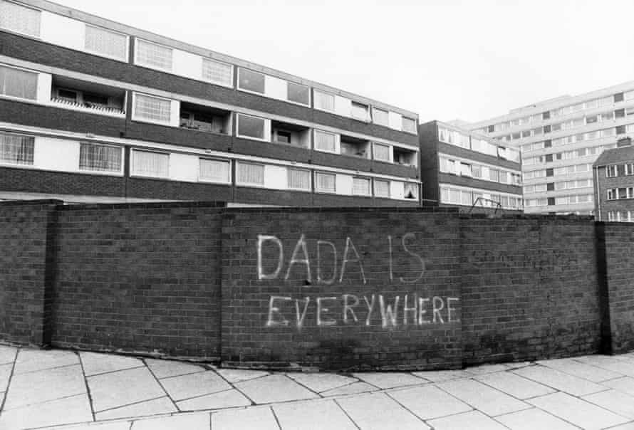 Graffiti on Malden Road in Kentish Town, north London, around 1974.