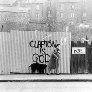Graffiti on Avon Road in Islington, north London, around 1974.