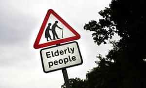 Elderly people road sign