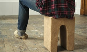 Stool made from urine and sand