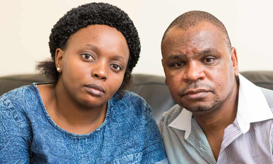 Charity and Wellington Gada, parents of Andrea Gada who was killed just before Christmas.