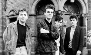 The Smiths outside Salford Lads' Club.