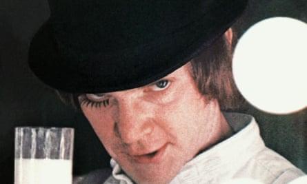 Malcolm McDowell as Alex in A Clockwork Orange.