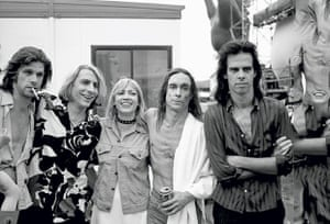 Kim Gordon with The Cruel Sea's Tex Perkins, Mudhoney's Mark Arm, Iggy Pop and Nick Cave