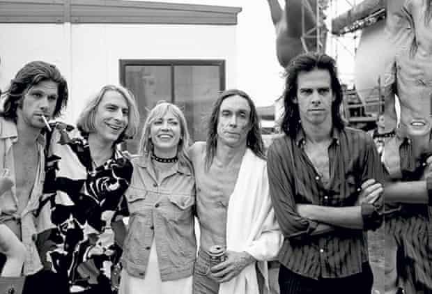 Kim Gordon with The Cruel Sea's Tex Perkins, Mudhoney's Mark Arm, Iggy Pop and Nick Cave