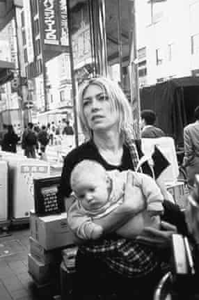 Kim Gordon with her with daughter Coco as a baby