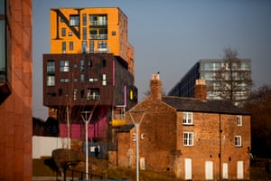 The CHIPS building, designed by Will Alsop, in New Islington.